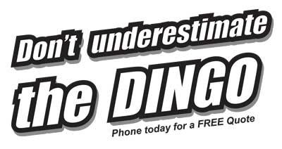 Dingo hire rates