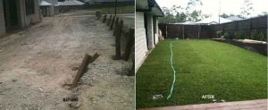 NICKS YARD BEFORE AFTER